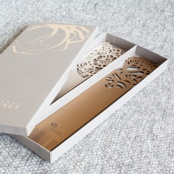 Elegant leather bookmark set