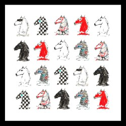 "Scarf ""25 Horses"""