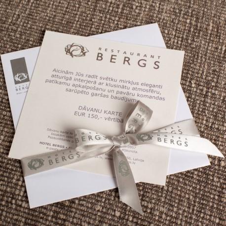 Restaurant Bergs Gift card 200 Eur